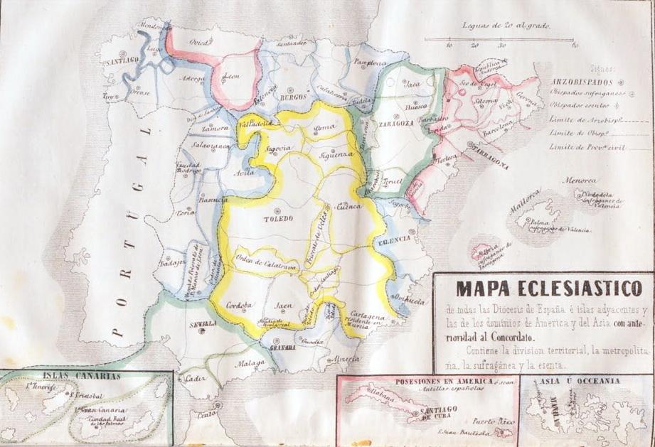 Mapa eclesiastico anterior concordato