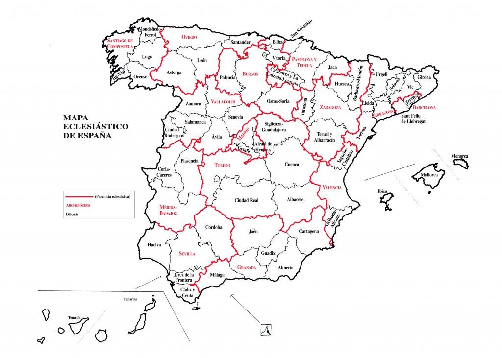 mapa eclesiastico actual